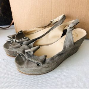 Suede Butter Wedges